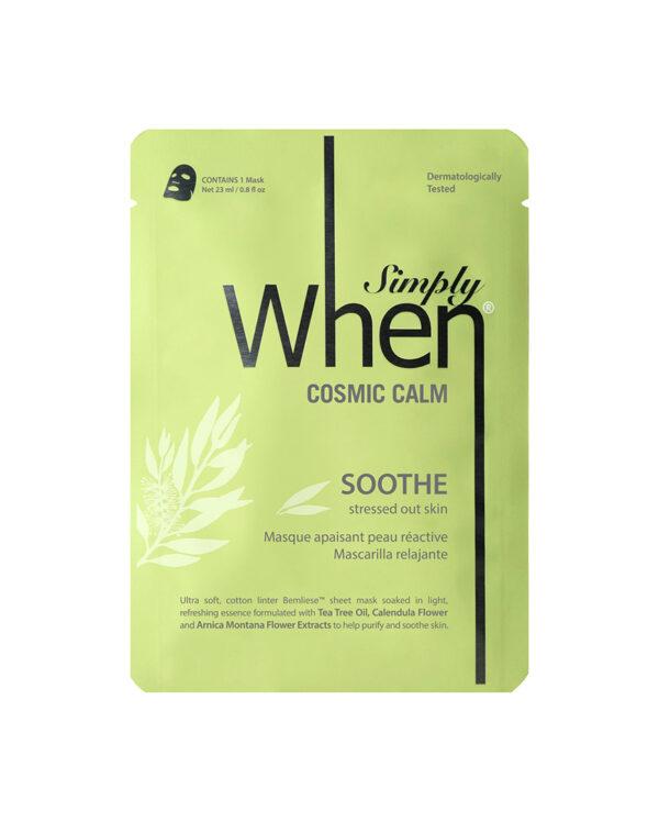 Masca faciala calmanta si purifianta pentru ten sensibil, Cosmic Calm, 115 ml, Simply When (5 buc)