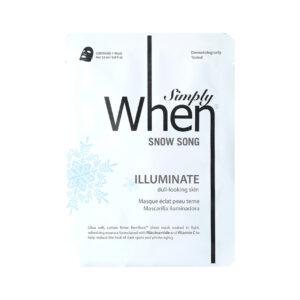 Masca coreana pentru luminozitate cu vitamina C, Snow Song, 23 ml, Sim...