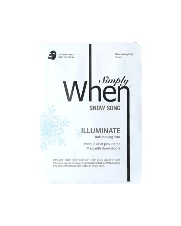 Masca pentru luminozitate cu vitamina C si niacinamida, Snow Song, 23 ml, Simply When