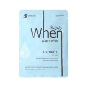 Masca coreana hidratanta pentru ten uscat, Water Wish, 23 ml, Simply W...