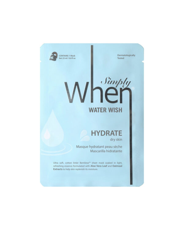 Masca hidratanta pentru ten uscat, Water Wish, 23 ml, Simply When