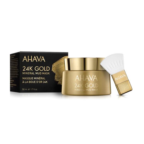 Masca minerala cu namol si aur 24k, Ahava, 50ml