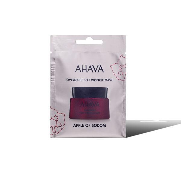 Masca de noapte pentru riduri profunde, Apple Of Sodom - pentru o singura folosire, Ahava, 6 ml