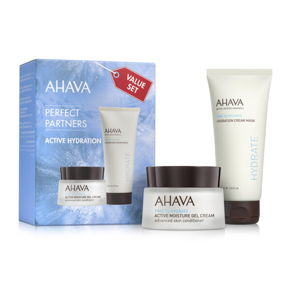 Set Duo Masca si Gel - Active Hydration Ahava, 100ml+50ml