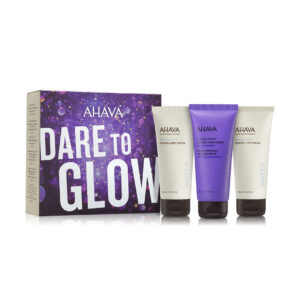 Set Dare to Glow – crema picioare, maini si corp, Ahava, 3x100ml