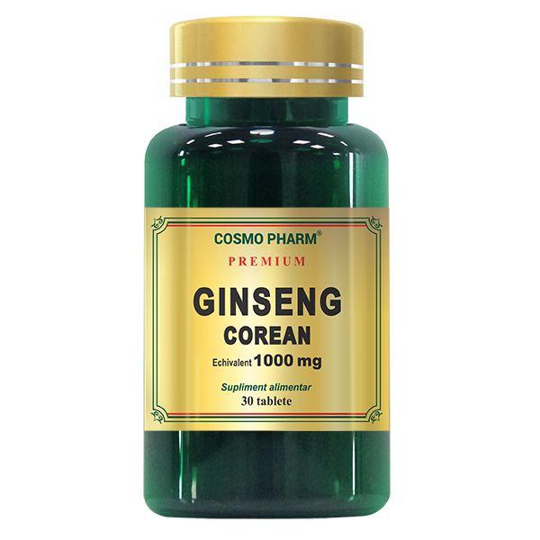 Ginseng Corean 1000mg, Cosmo Pharm, 30 tablete