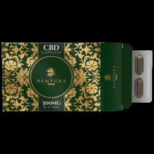 Capsule CBD 300mg, spectru complet, Hempura, 30cps