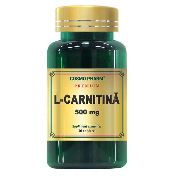 L- Carnitina 500 mg, Cosmo Pharm, 30 tablete