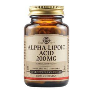 Acid Alfa-lipoic 200 mg, Solgar, 50 capsule