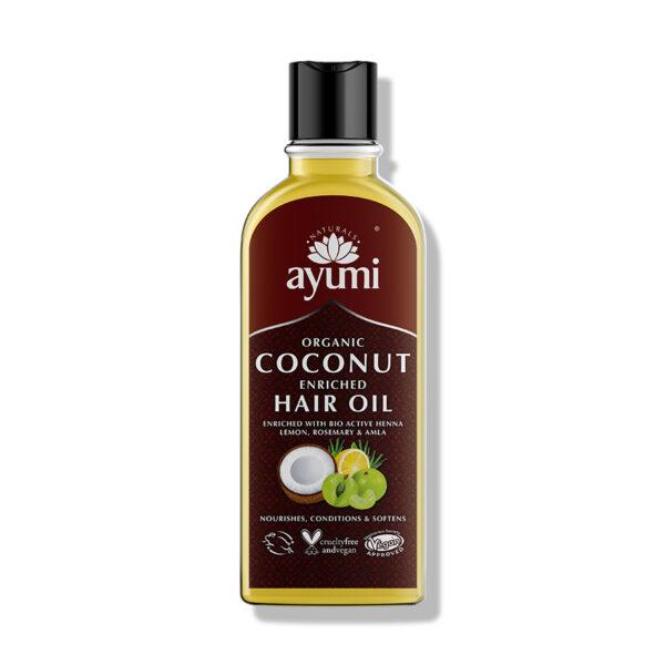 Ulei organic de cocos,cu ingrediente active, Ayumi, 150ml