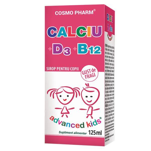 Calciu D3 B12 Sirop, Cosmo Pharm, 125 ml