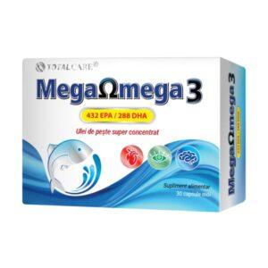 Mega Omega 3 Ulei de peste super concentrat, Cosmo Pharm, 30 Capsule m...