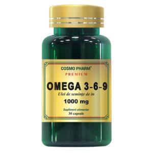 Omega 3-6-9 Ulei de seminte de in 1000 mg, Cosmo Pharm, 30 capsule