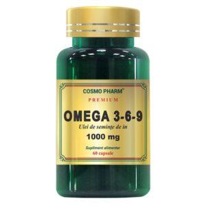 Omega 3-6-9 Ulei de seminte de in 1000 mg, Cosmo Pharm, 60 capsule