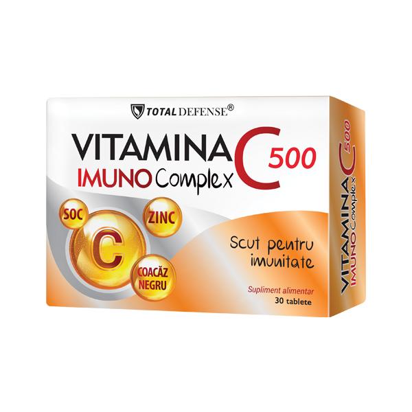Vitamina C 500 Imuno Complex, Cosmo Pharm, 30 tablete