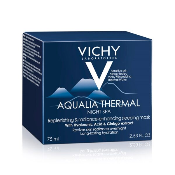 Gel-crema hidratant de noapte cu efect anti-oboseala Aqualia Thermal SPA, Vichy, 75 ml