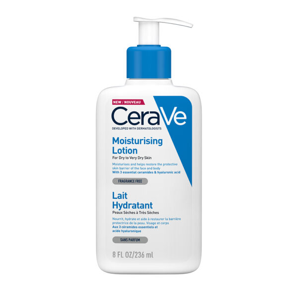 Lotiune hidratanta de fata si corp pentru piele uscata si foarte uscata, CeraVe, 236 ml