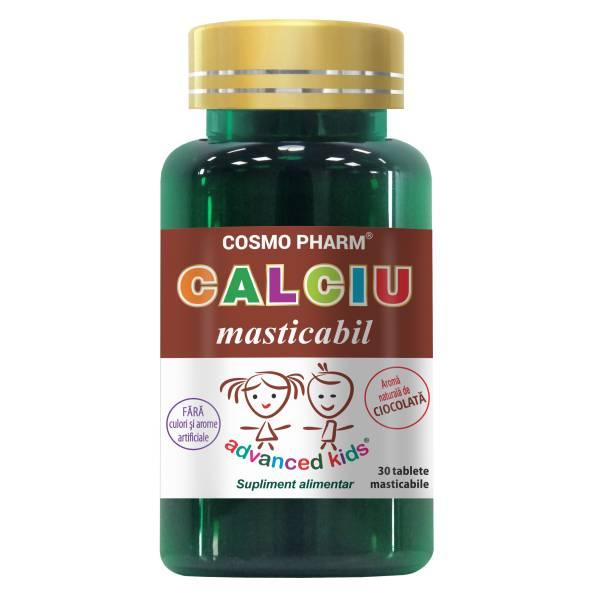 Calciu masticabil, Cosmo Pharm, 30 tablete masticabile