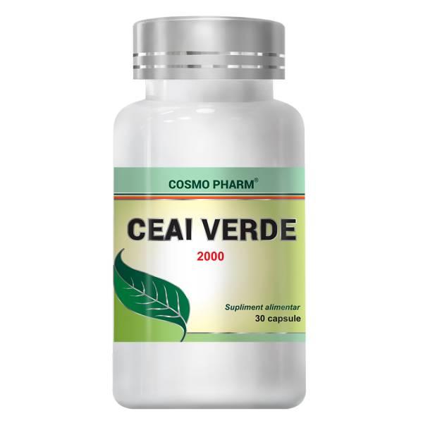 Ceai Verde 2000, Cosmo Pharm, 30 capsule