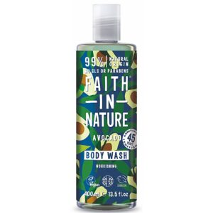 Gel de dus natural, nutritiv, cu avocado, Faith in Nature, 400 ml