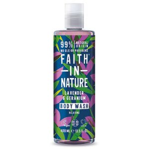 Gel de dus natural, relaxant, cu lavanda si muscata, Faith in Nature, ...