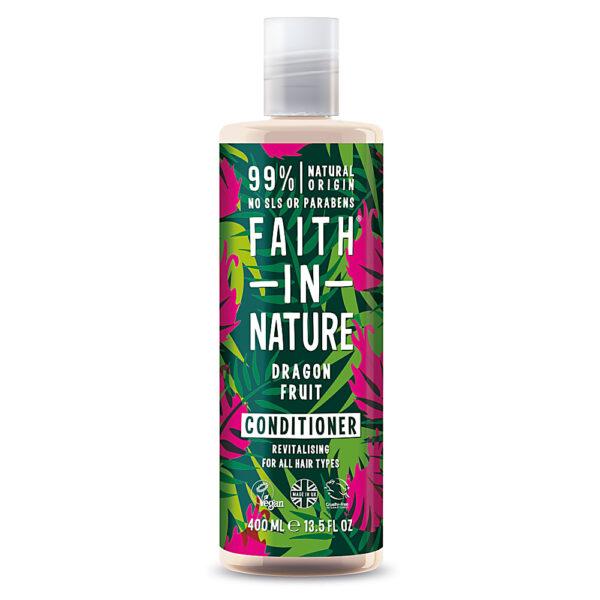 Balsam natural revitalizant cu fructul dragonului, pentru toate tipurile de par, Faith in Nature, 400 ml