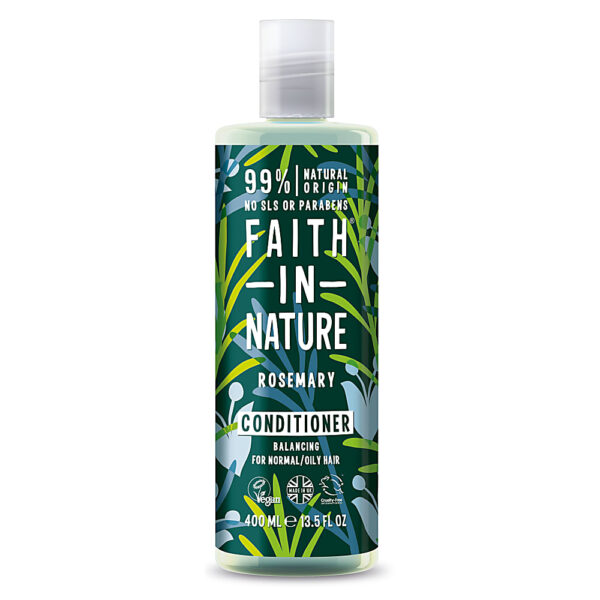 Balsam natural echilibrant cu rozmarin pentru par normal sau gras, Faith in Nature, 400 ml