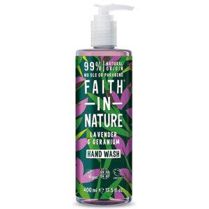 Sapun lichid natural cu lavanda si muscata, Faith in Nature, 400 ml