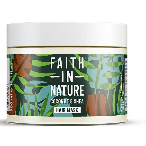 Masca naturala nutritiva cu cocos si unt de shea pentru par uscat, Faith in Nature, 300ml