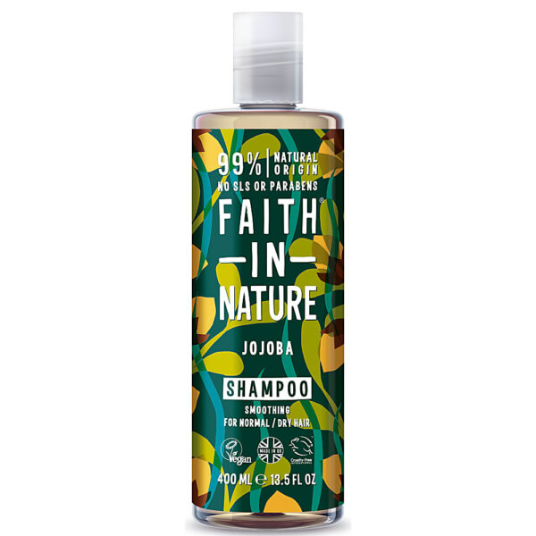 Sampon natural calmant cu jojoba, pentru par normal sau uscat, Faith in Nature, 400 ml
