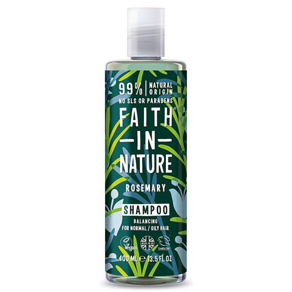 Sampon natural echilibrant cu rozmarin, pentru par normal sau gras, Faith in Nature, 400 ml