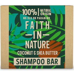 Sampon natural solid, nutritiv, cu cocos si unt de shea, pentru par us...