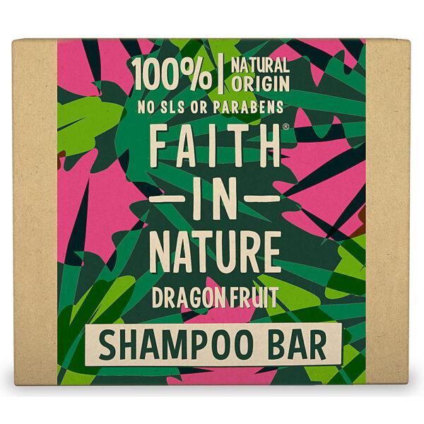 Sampon natural solid, fortifiant, cu fructul dragonului, pentru par deteriorat, vopsit, Faith in Nature, 85 gr