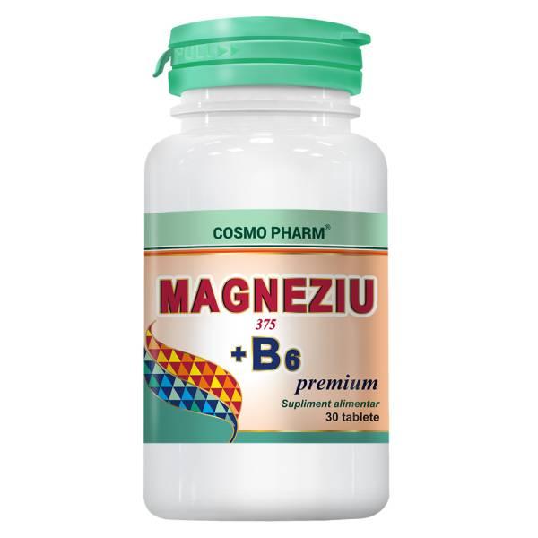 Magneziu 375 B6 Premium Formula, Cosmo Pharm, 30 tablete