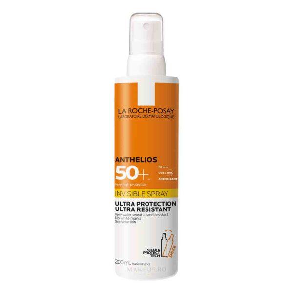 Spray invizibil pentru protectie solara SPF50+, Anthelios, La Roche-Posay, 200 ml