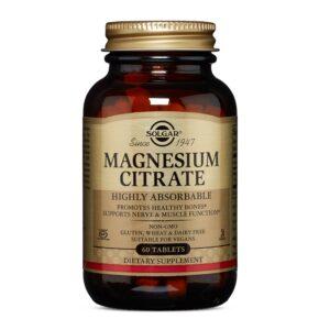 Citrat de magneziu 200 mg, Solgar, 60 capsule