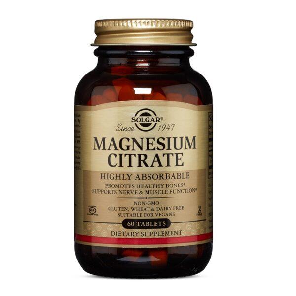 Citrat de magneziu 200 mg, Solgar, 60 tablete