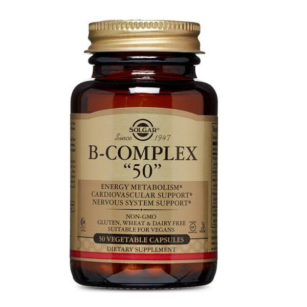 Vitamin B-Complex -50, Solgar, 50 capsule