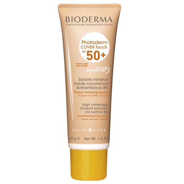 Fluid Photoderm Cover Touch SPF 50+ nuanta deschisa, Bioderma, 40 g