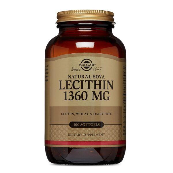 Lecitina din soia 1360 mg, Solgar, 100 capsule