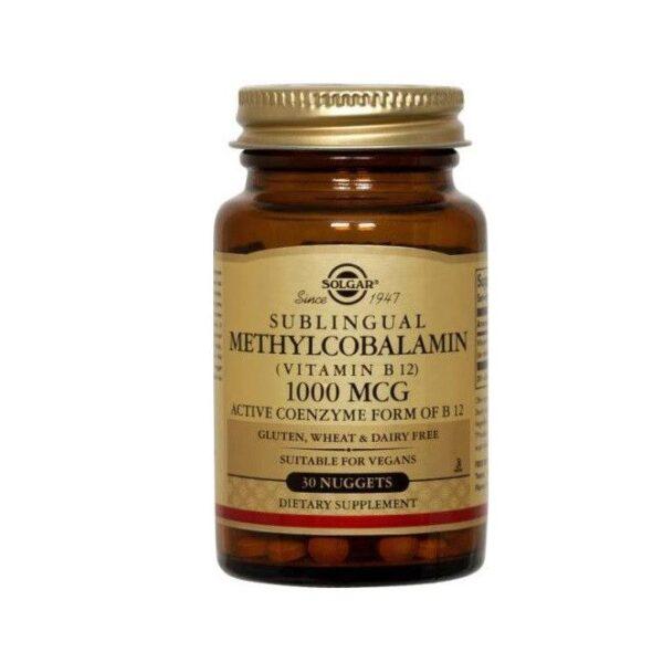 Metilcobalamina Vitamina B12 1000 mg, Solgar, 30 capsule