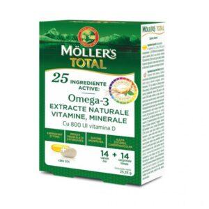 Mollers Total, Mollers, 14 capsule + 14 comprimate
