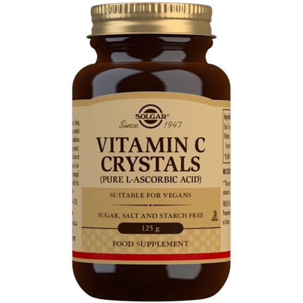 Pudra cristale de vitamina C 1125mg, Solgar, 125 g