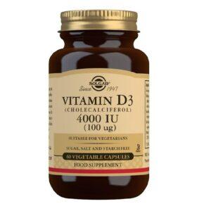 Vitamina D3 4000IU, Solgar, 60 capsule