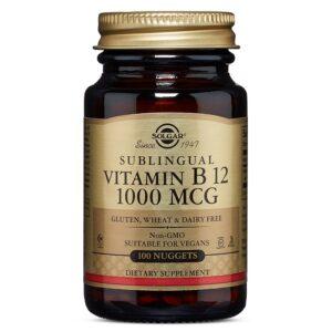 Vitamina B12 1000 μg, Solgar, 100 capsule