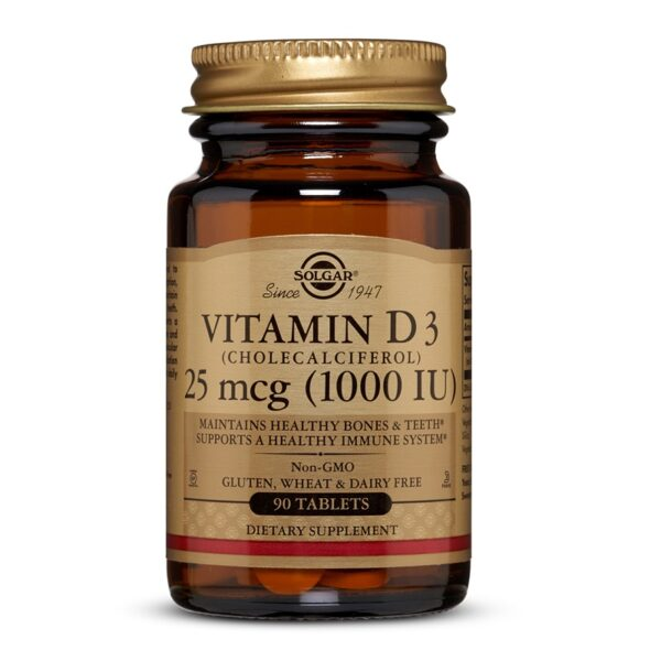 Vitamina D3 1000UI, Solgar, 90 tablete