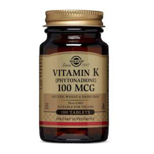 Vitamina K1 100 μg, Solgar, 100 tablete