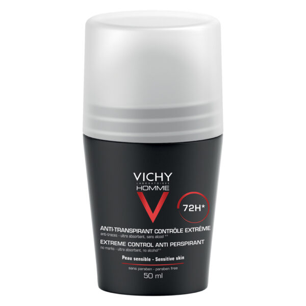 Deodorant roll-on antiperspirant control extrem pentru barbati 72h Vichy Homme, Vichy, 50 ml