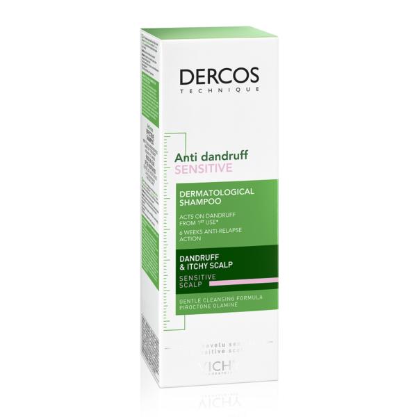 Sampon anti-matreata pentru scalp sensibil Dercos Sensitive, Vichy, 200 ml