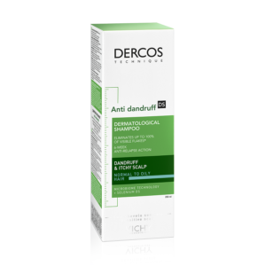 Sampon anti-matreata pentru par normal-gras Dercos, Vichy, 200 ml